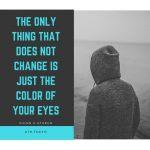………変わらないのは、瞳の色だけで………